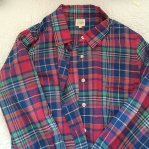 J. Crew The Perfect Shirt Plaid Button Up
